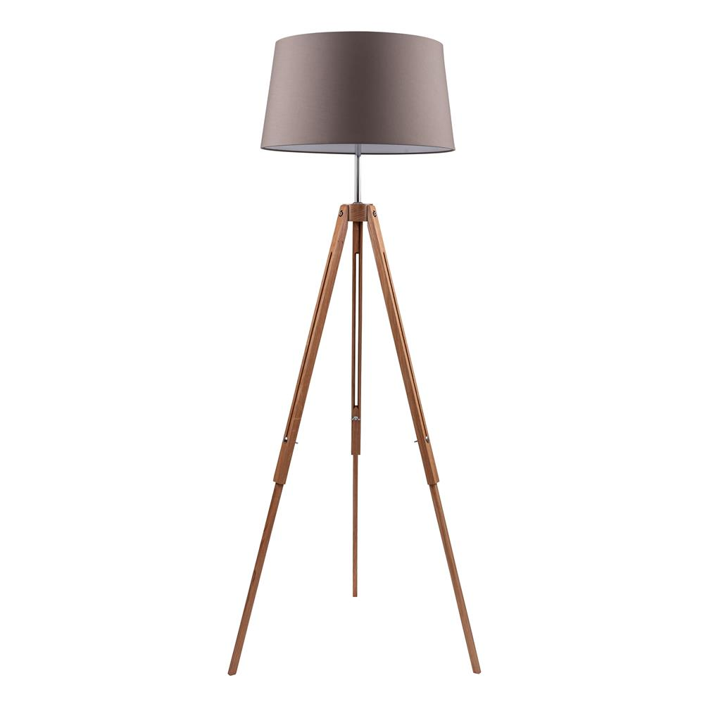 spot light 6023070 stehleuchte tripod e27 eiche grau braun standlampe holz ebay. Black Bedroom Furniture Sets. Home Design Ideas