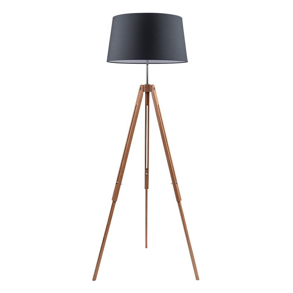spot light 6024070 stehleuchte tripod e27 eiche chro. Black Bedroom Furniture Sets. Home Design Ideas