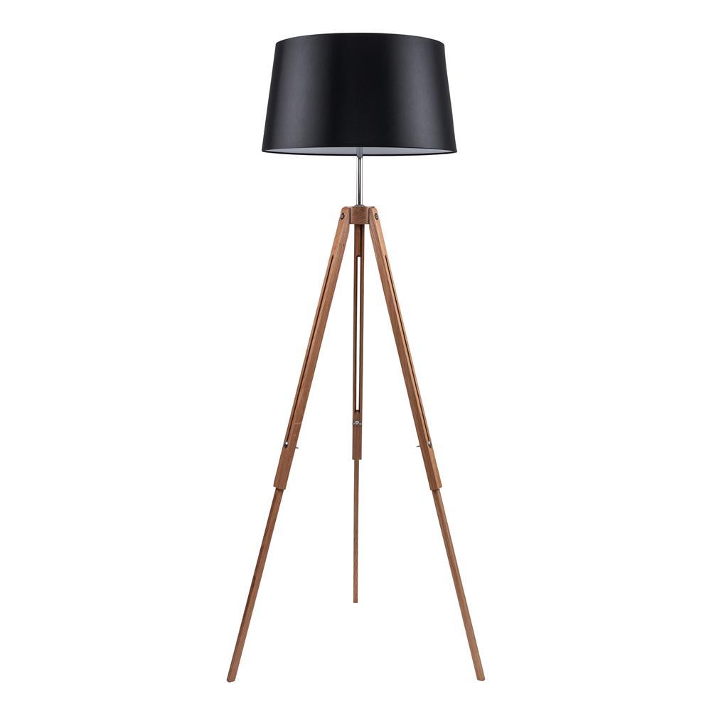 spot light 6025070 stehleuchte tripod e27 eiche chro ebay. Black Bedroom Furniture Sets. Home Design Ideas