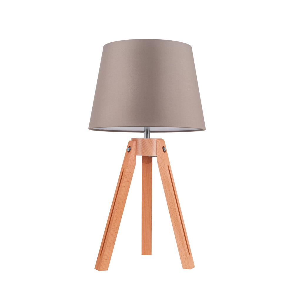 spot light tripod tischleuchte holz modern deko design. Black Bedroom Furniture Sets. Home Design Ideas