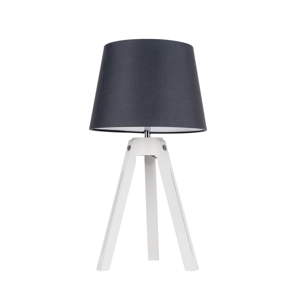 spot light tripod tischleuchte holz modern deko design lese dreibein lampe neu ebay. Black Bedroom Furniture Sets. Home Design Ideas