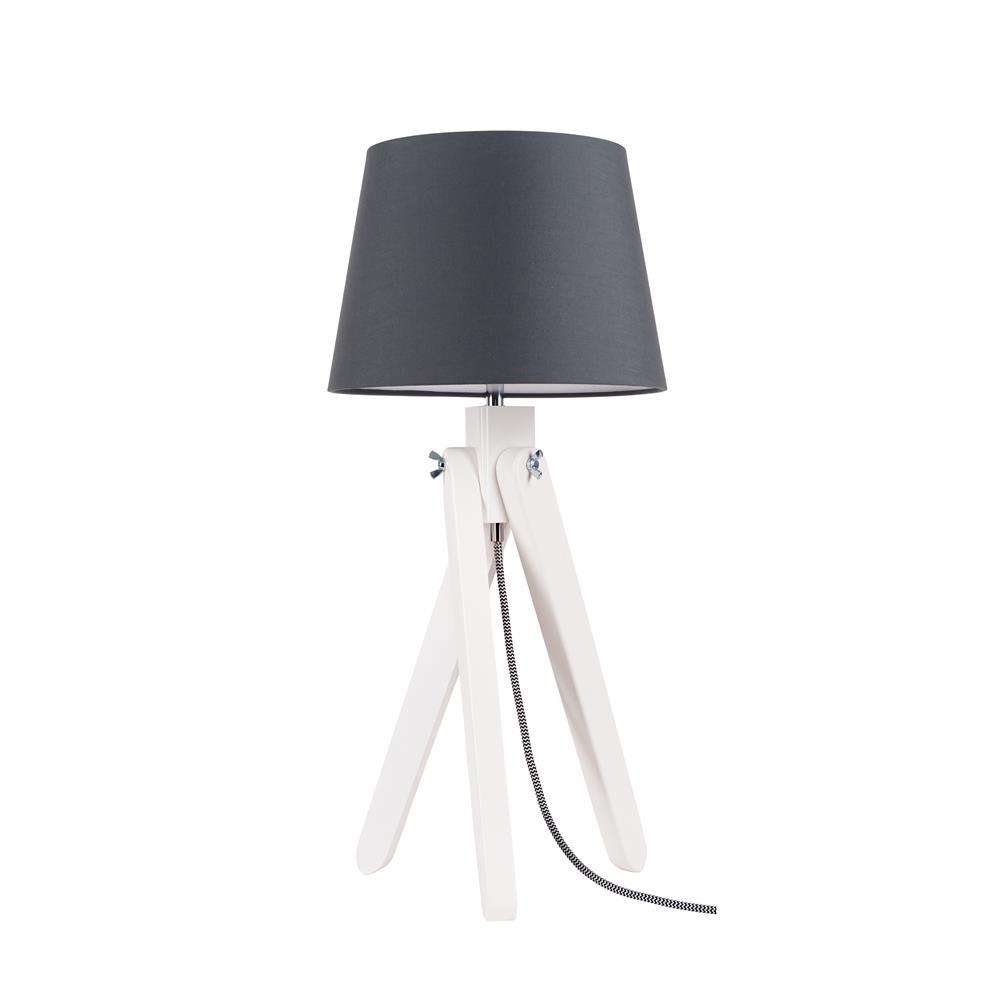 spot light rune tischleuchte holz modern deko design lese dreibein lampe neu ebay. Black Bedroom Furniture Sets. Home Design Ideas