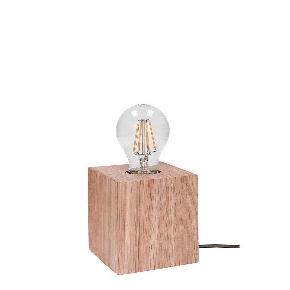 spot light trongo tisch leuchte modern holz lampe lese design deko gl hbirne ebay. Black Bedroom Furniture Sets. Home Design Ideas