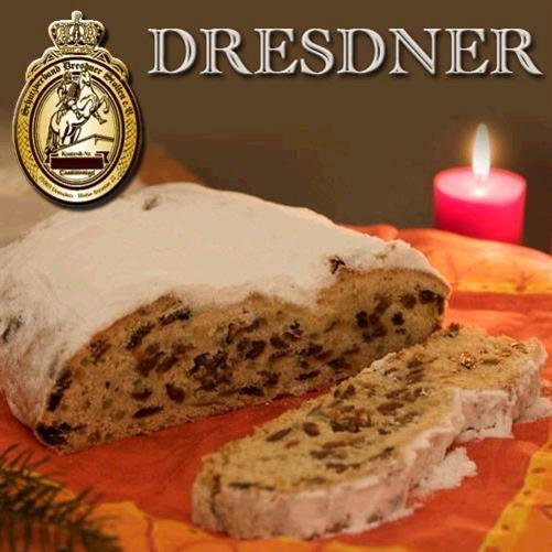 original dresdner christstollen mit stollensiegel 1 5kg rosinenstollen stollen ebay. Black Bedroom Furniture Sets. Home Design Ideas