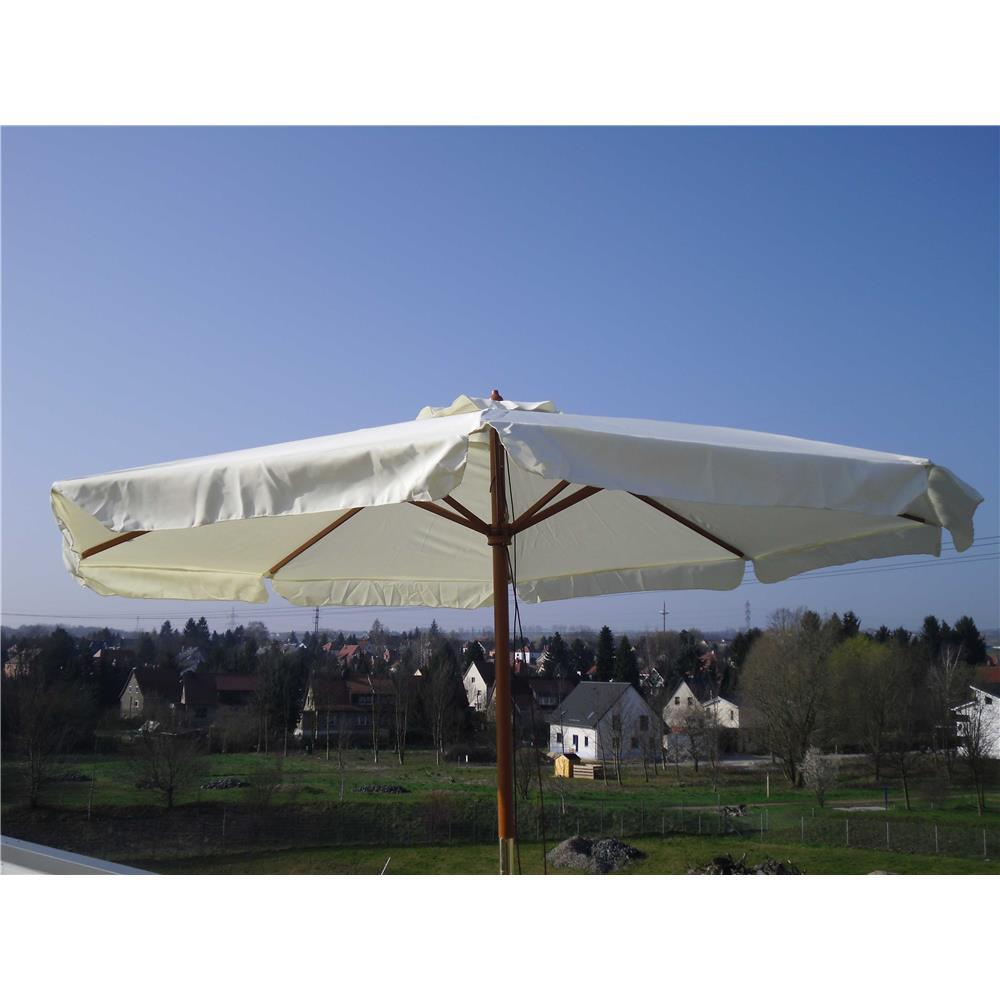 holzmarktschirm 3 m durchmesser beige sonnenschirm gartenschirm schirm balkon ebay. Black Bedroom Furniture Sets. Home Design Ideas
