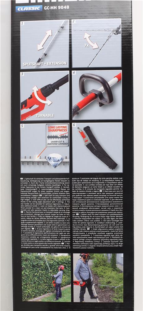 einhell elektro stab heckenschere gc hh 9048 elektroschere stabheckenschere neu ebay. Black Bedroom Furniture Sets. Home Design Ideas