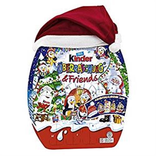 ferrero kinderschokolade adventskalender weihnachten friends maxi mix ei bueno ebay. Black Bedroom Furniture Sets. Home Design Ideas
