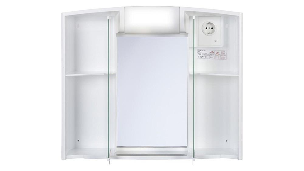 JOKEY Spiegelschrank ANGY 3D Steckdose Licht, zwei Spiegeltüren