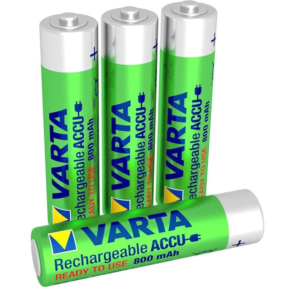 4x VARTA AAA Micro Akku LONGLIFE ACCU Ready2Use Ni-MH ...