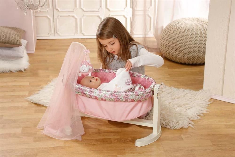 zapf creation 792865 baby annabell wiege mit nachtlicht puppen bett wiege neu ebay. Black Bedroom Furniture Sets. Home Design Ideas