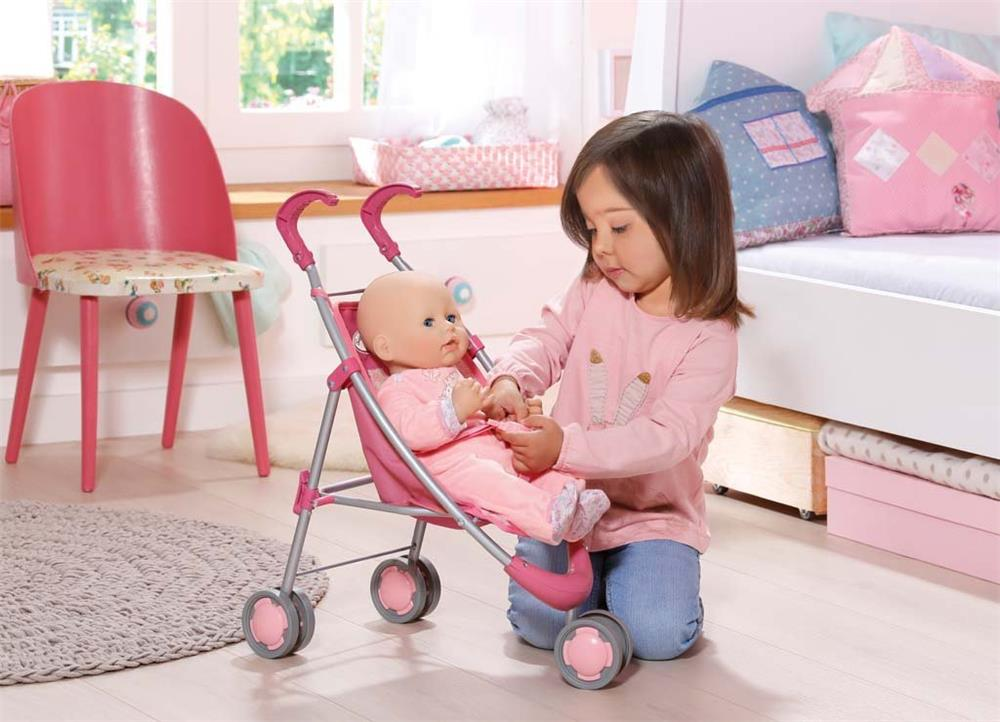 zapf creation 794470 baby annabell buggy rosa puppenwagen f r markenspielpuppe ebay. Black Bedroom Furniture Sets. Home Design Ideas