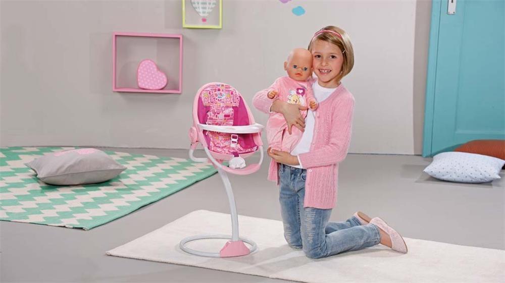 zapf creation 819555 baby born hochstuhl essstuhl tisch. Black Bedroom Furniture Sets. Home Design Ideas